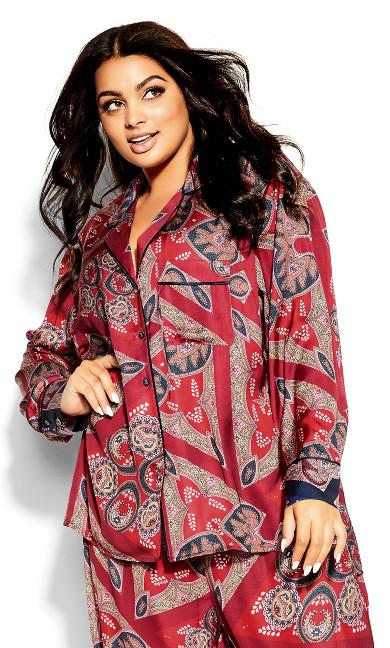 Prism Sleep Shirt - ruby