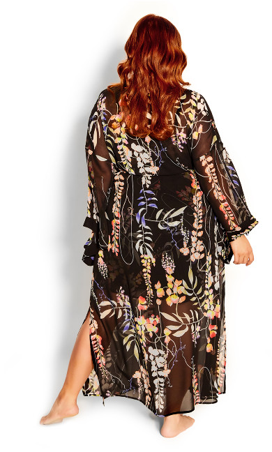 Dreamy Vine Robe - black