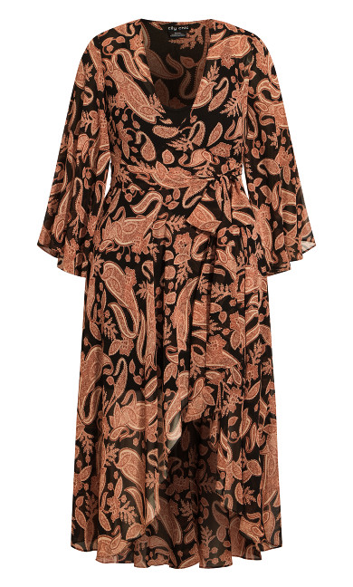 Paisley Lust Maxi Dress - black