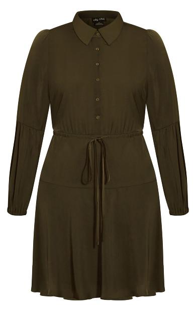 Flounce Dress - khaki