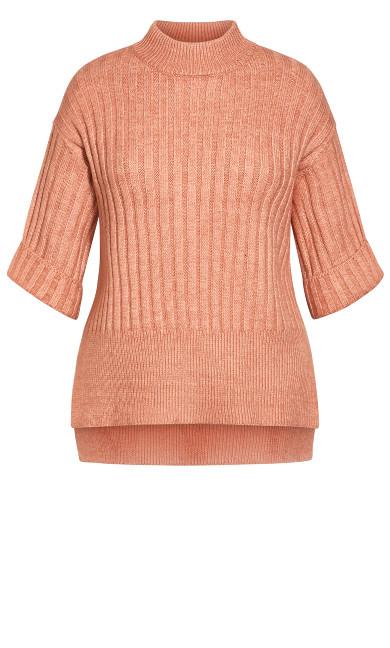 Cosy Knit Jumper - rose