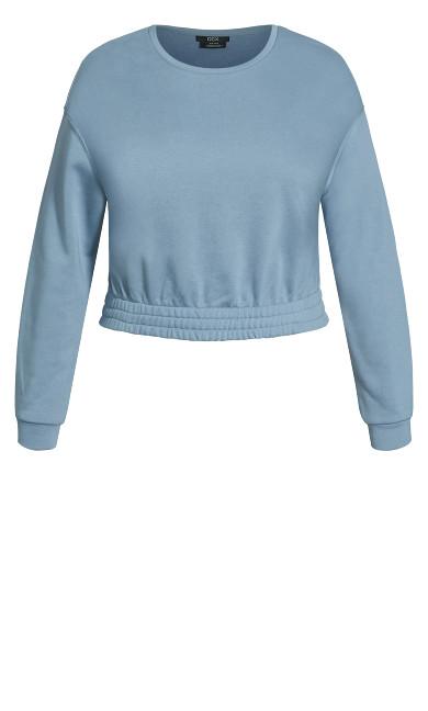 Lounger Sweat Top - dusty blue
