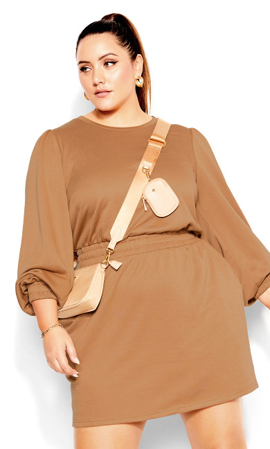 Lounger Dress - biscuit