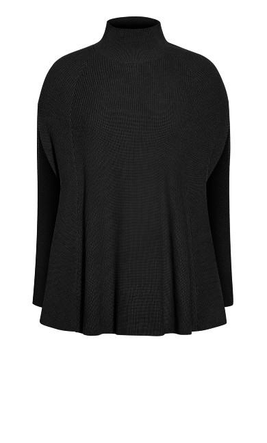 Kara Vest Jumper - black