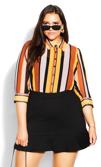 Sassy Knit Skirt - black