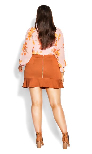 Sassy Knit Skirt - caramel