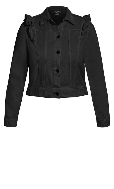 Sweet Denim Jacket - black