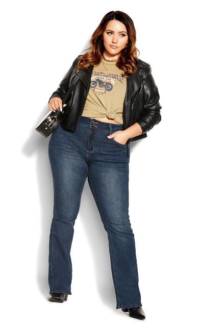 Harley Simple Bootleg Jean - indigo