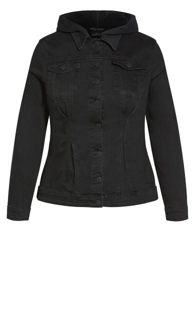 Denim Cinched Jacket - washed black