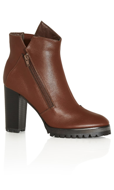 Blix Ankle Boot - dark chocolate