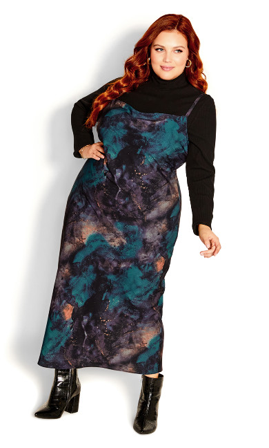 Exotic Surface Dress - teal