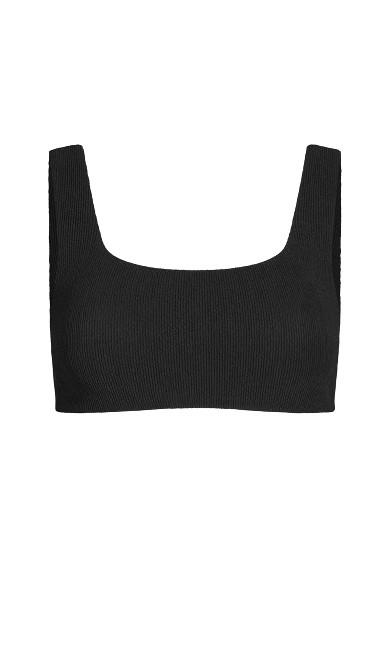 Izzy Underwire Bikini Top - black