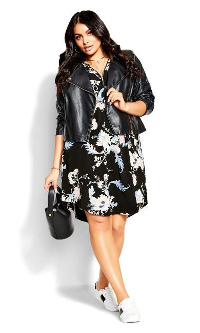 Chic Nouveau Dress - black