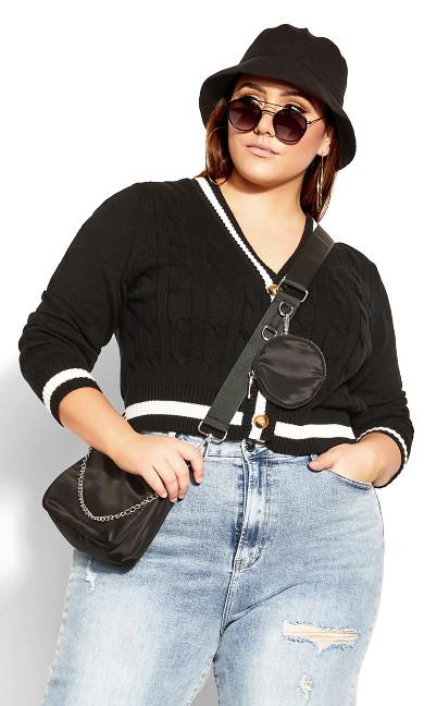 Varsity Cardigan - black