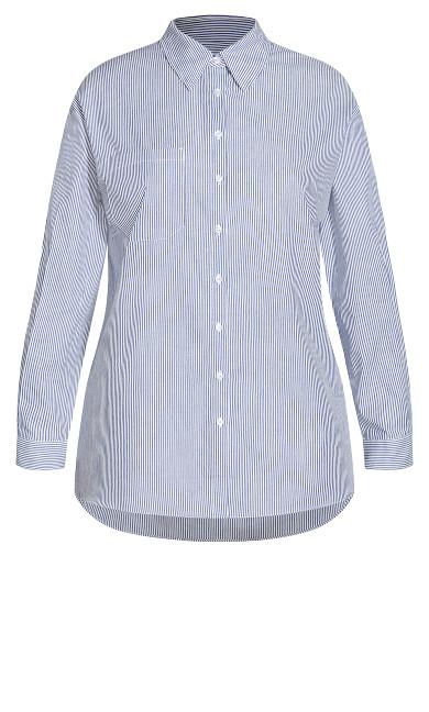 Varsity Stripe Shirt - blue