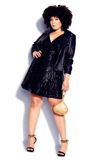 Party Glow Dress - black