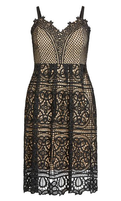 Fancy Free Stripe Dress - black