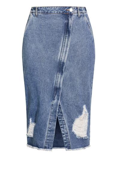 Star Crossed Skirt - light denim