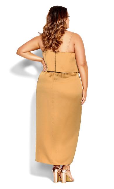 Baby Frill Dress - bronze