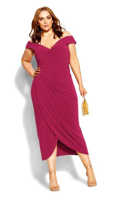 Ripple Love Dress - magenta