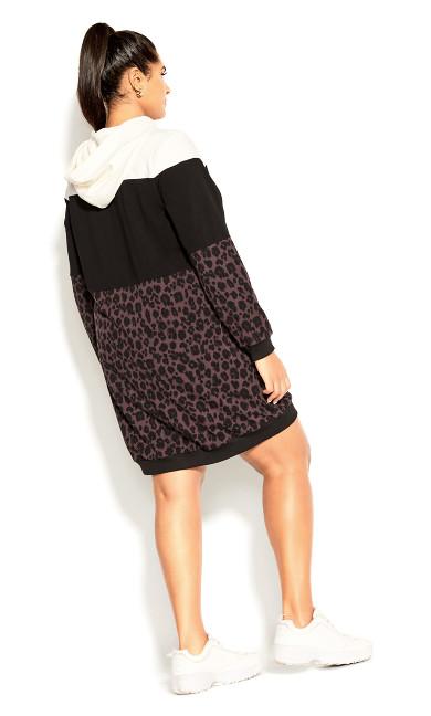 Hoodie Animal Dress - black
