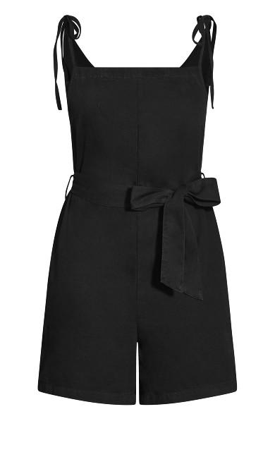 Tie Overall Short - black