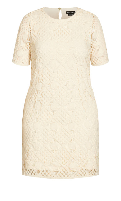 Crochet Vibes Dress - ecru