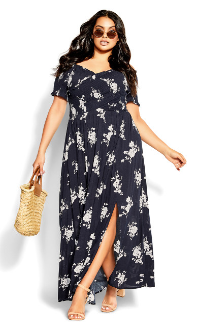 Rose Love Floral Maxi - navy
