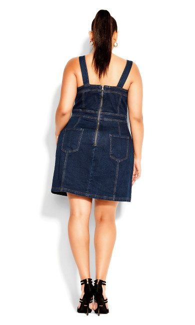 Chic Denim Dress - dark denim