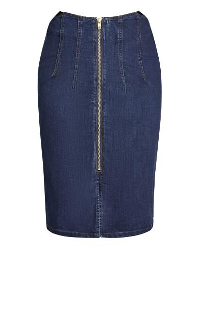 Denim Pin Up Skirt - dark denim