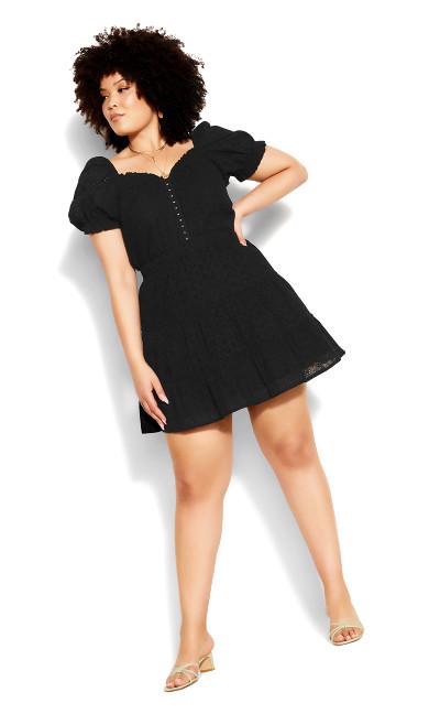 Sweet Broderie Skirt - black