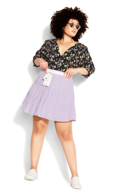 Sweet Broderie Skirt - lilac