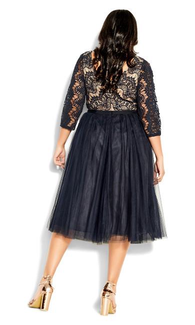 Beauty Elbow Sleeve Dress - navy