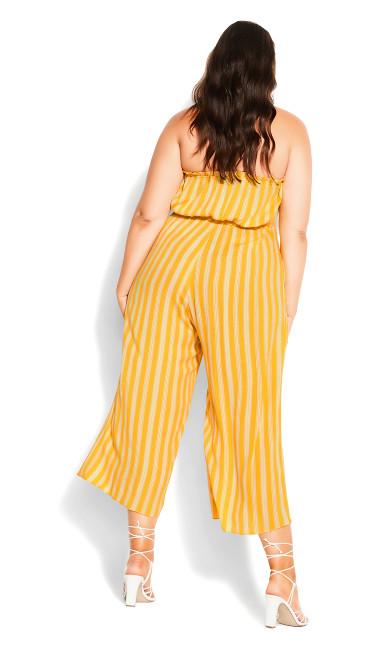 Bold Stripe Jumpsuit - golden