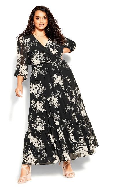 Mini Bouquet 3/4 Sleeve Maxi Dress -