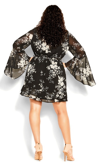 Bouquet Mini Dress - black