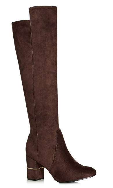 Priscilla Long Boot - chocolate