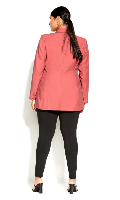 Longline Essence Jacket - deep guava