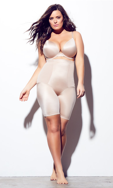 Women's Plus Size Latte Smooth & Chic Thigh Shaper