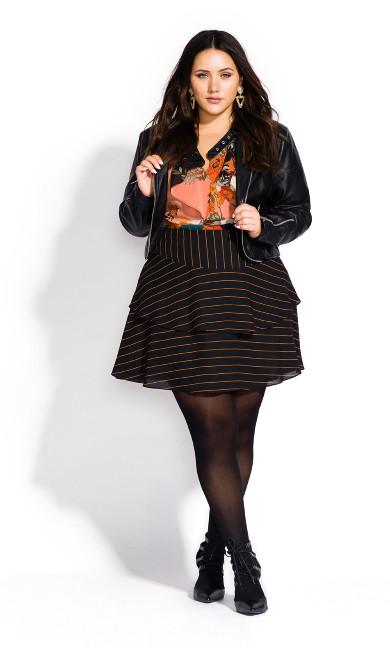 Women's Plus Size 40D Black Opaque Tights