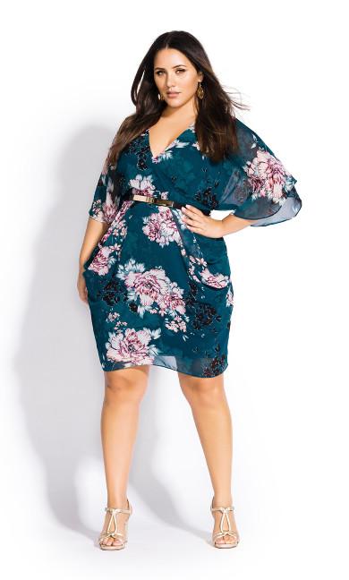 Women's Plus Size Jade Blossom Dress - jade