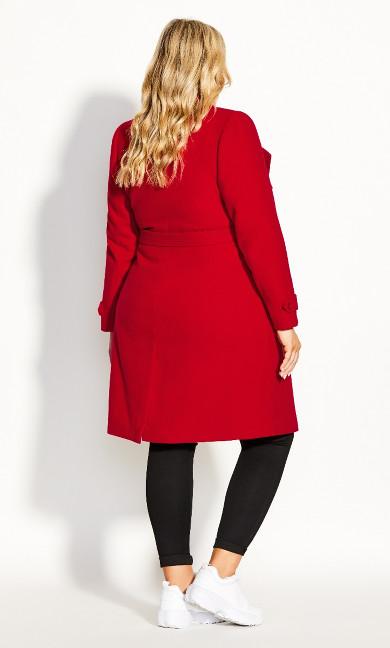 So Chic Coat - red