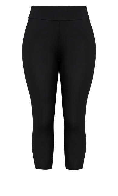 7/8 Wide Band Legging - black