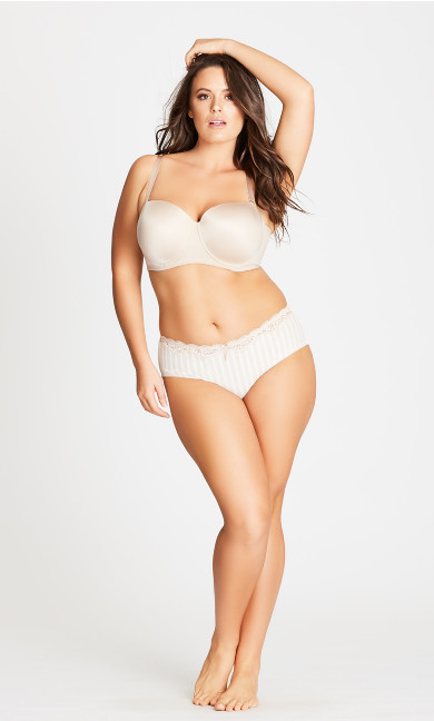 Women's Plus Size Latte Adore Strapless Bra