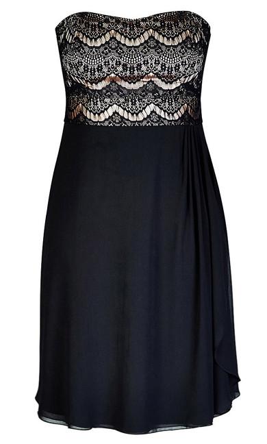 Ebony Eyelash Dress - Black