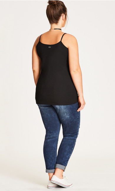 Gather Front Cami - black