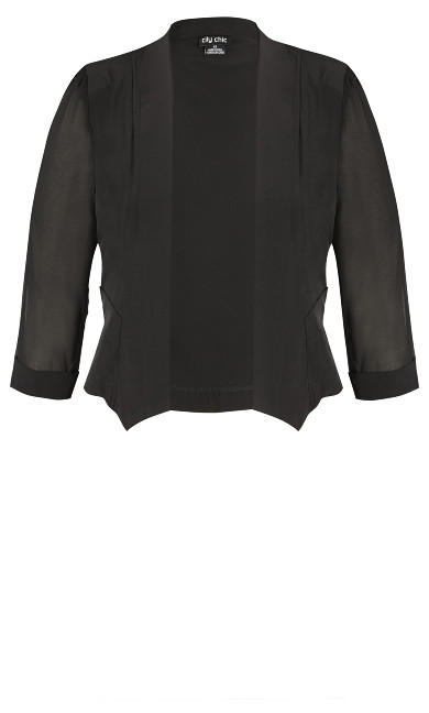 Cropped Blazer Jacket - black