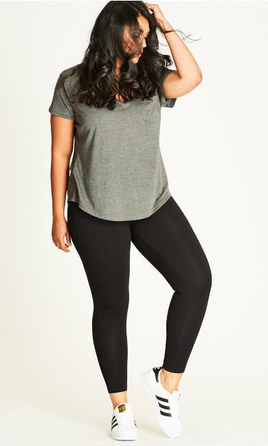 Full Length Wide Band Legging - black