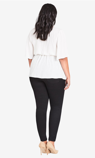 Asha Regular High Rise Skinny Jean - black