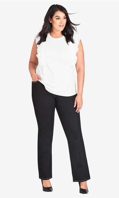 Women's Plus Size CC Regular Bootleg Jean - Black